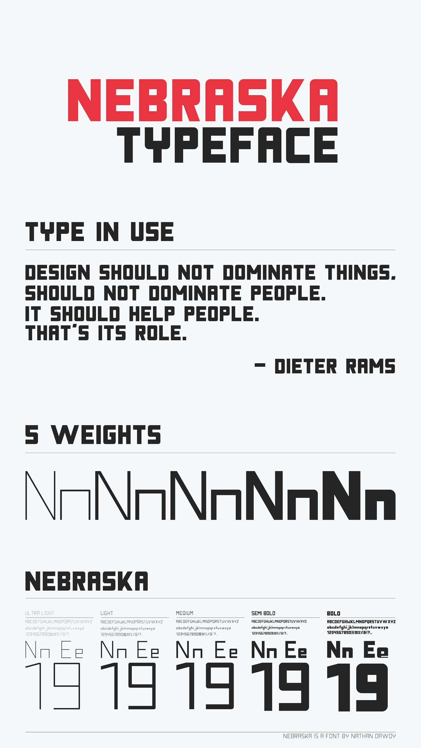 Nebraska Typeface