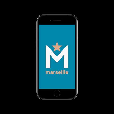 FC MINIMALISM - MARSEILLE IPHONE WALLPAPER