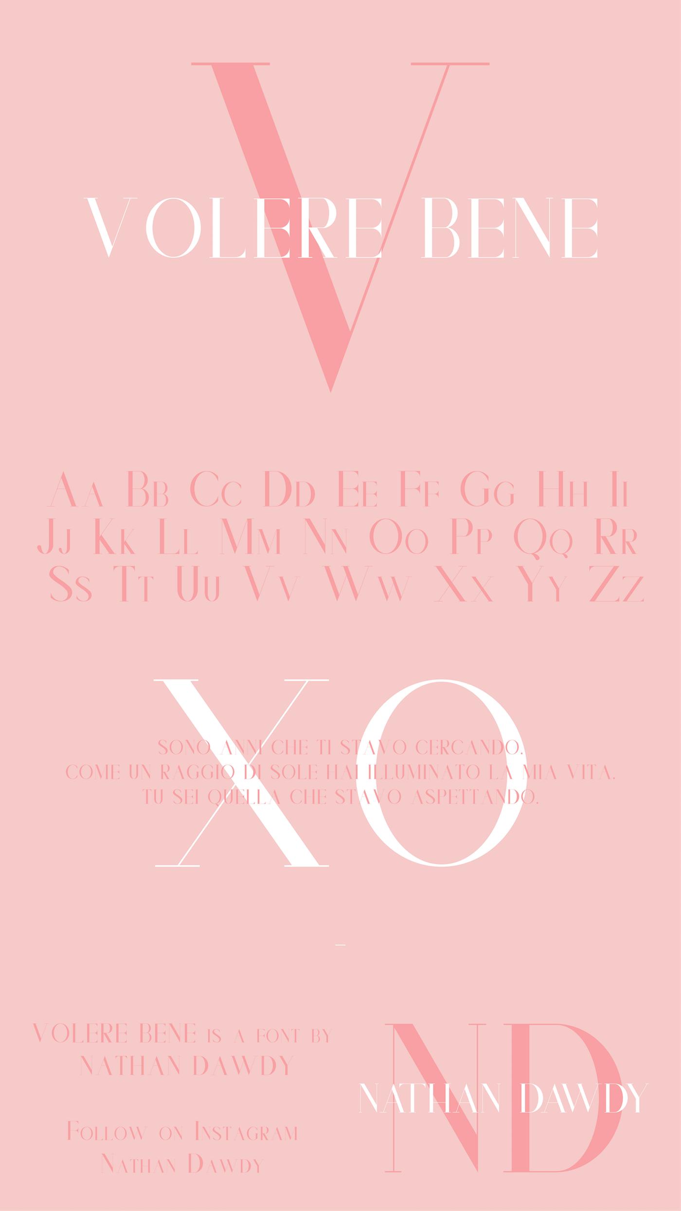 Volere Bene | Serif Display Typeface