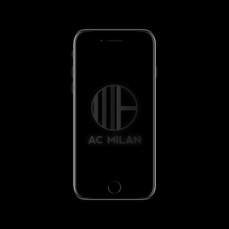 FC MINIMALISM - AC MILAN IPHONE WALLPAPER WHITE