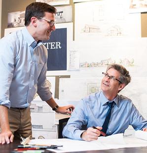 Builders talking