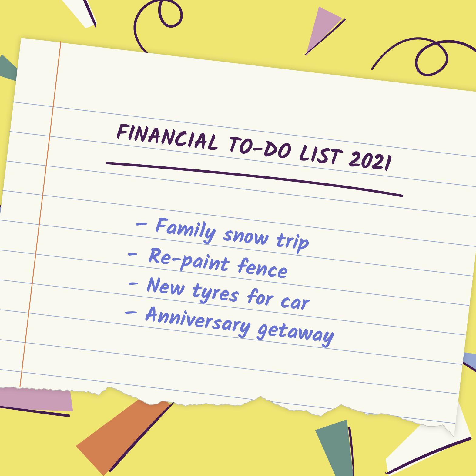 A financial to-do list for the upcoming year