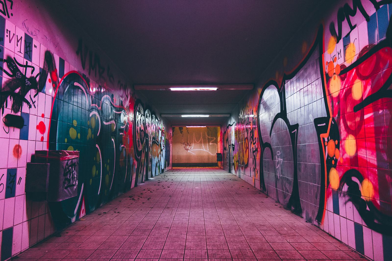Underpass At Night