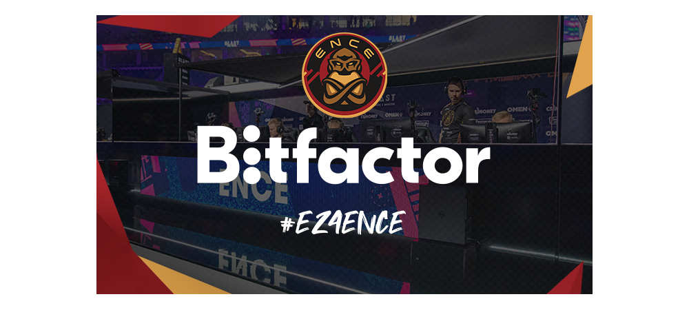Bitfactor and ENCE's logos.