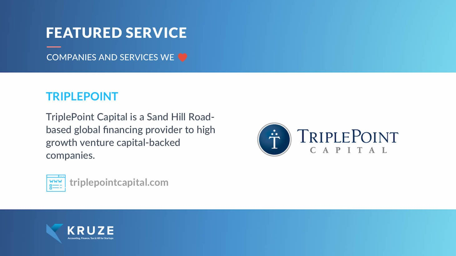 Featured Service - TriplePoint