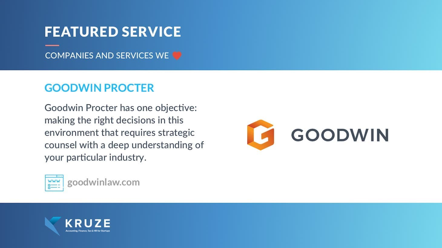 Featured Service - Goodwin Procter