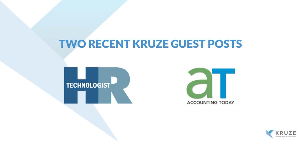 Two recent Kruze guest posts
