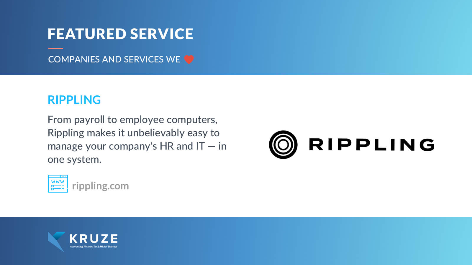 Featured Service - Rippling