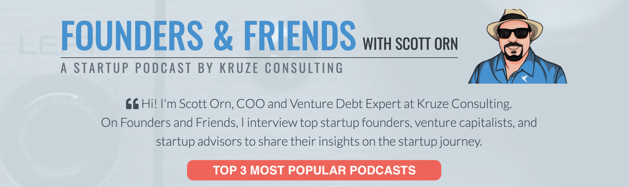 Recent Kruze Consulting Top 3 Most Popular Podcasts