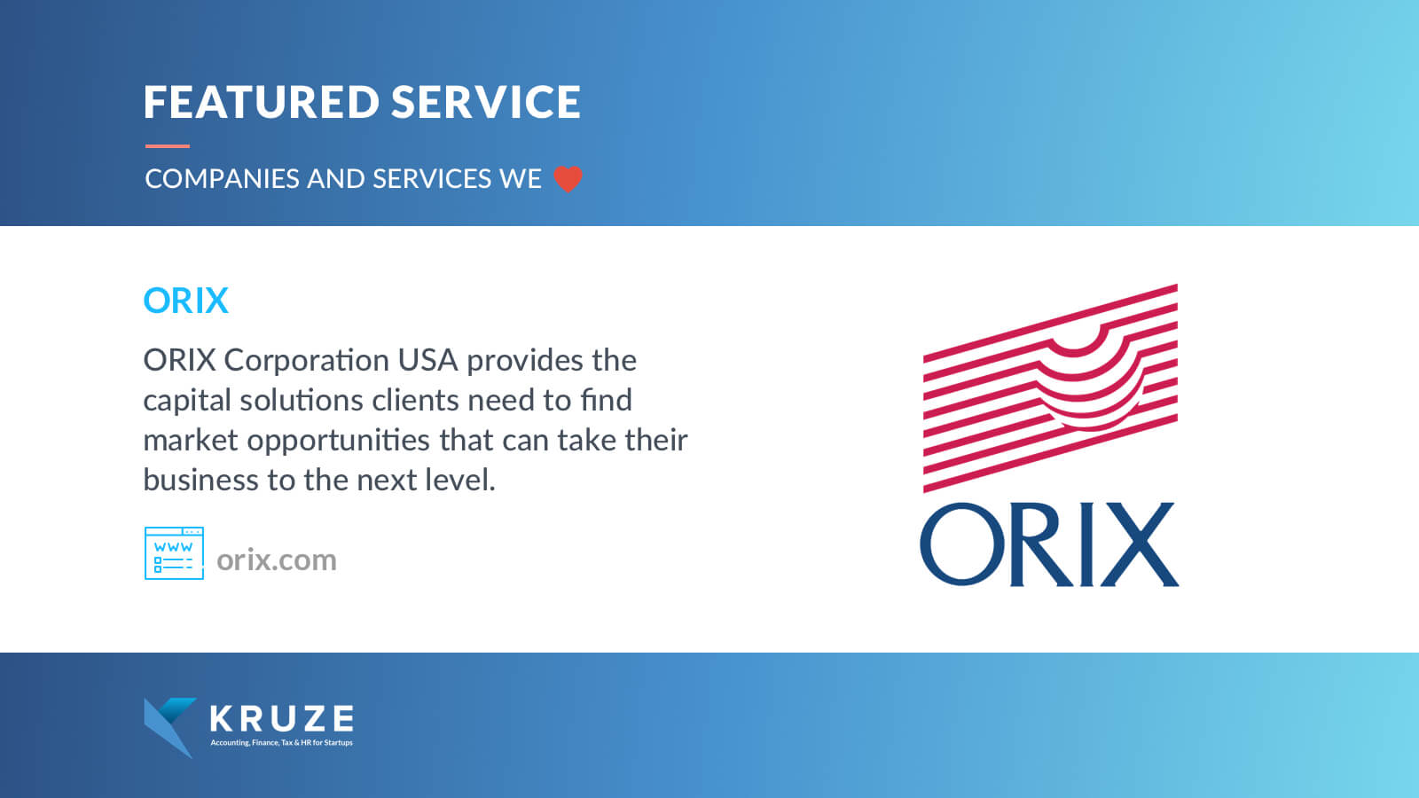 Featured Service - ORIX
