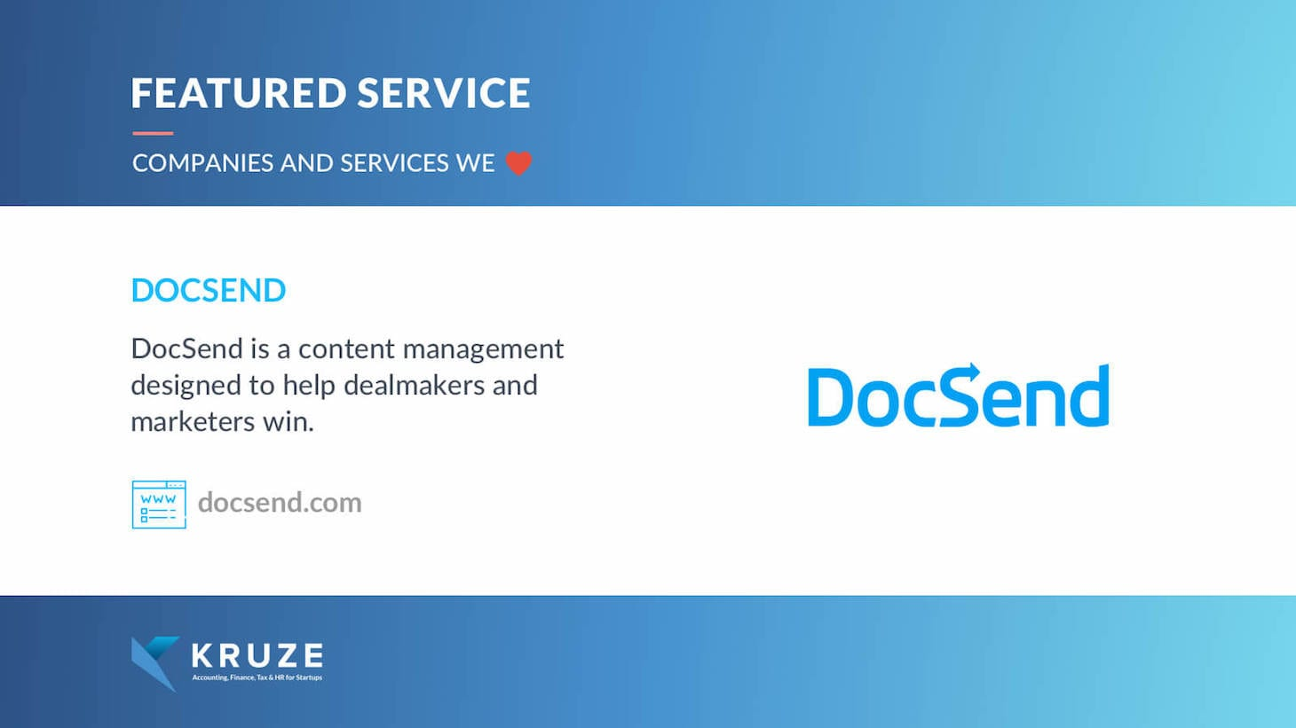 Featured Service - DocSend