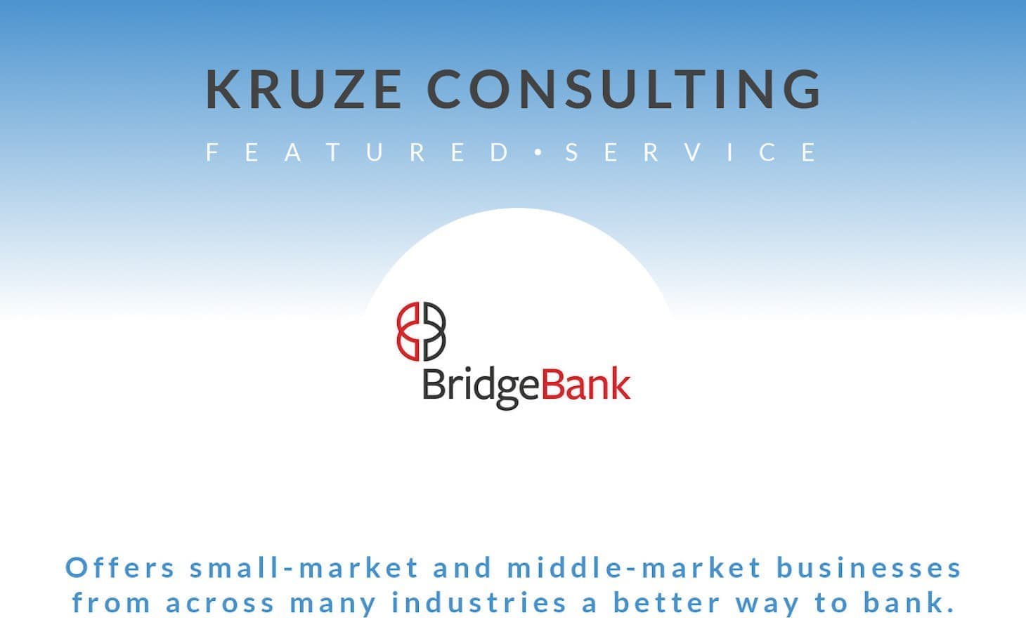 Featured Service - Bridge Bank