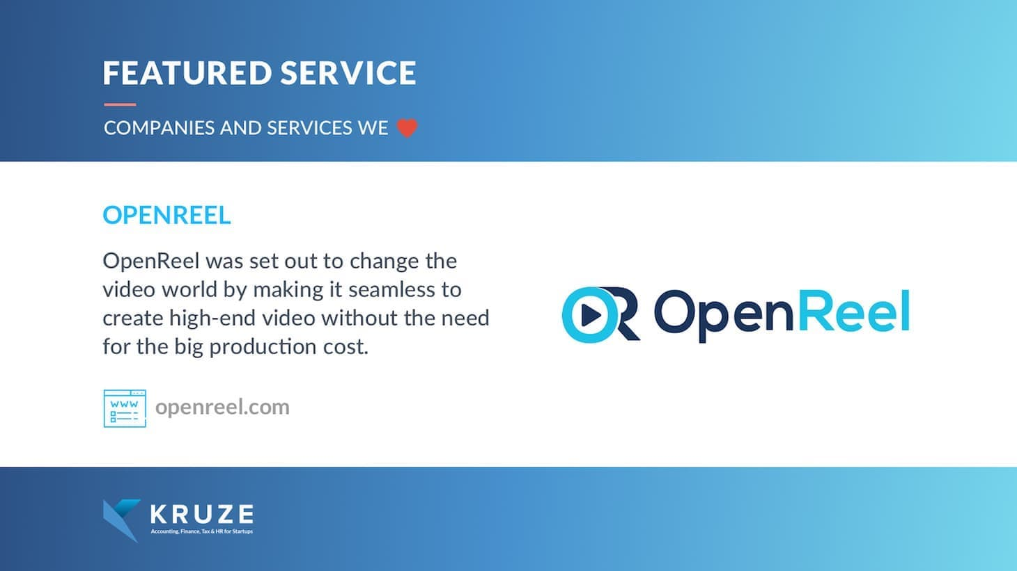 Featured Service - OpenReel