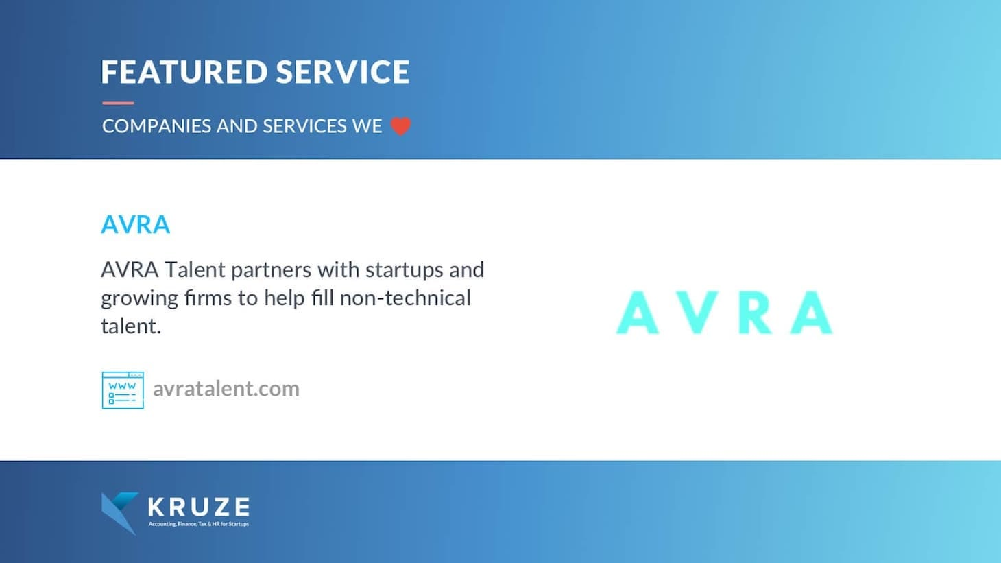 Featured Service - AVRA Talent
