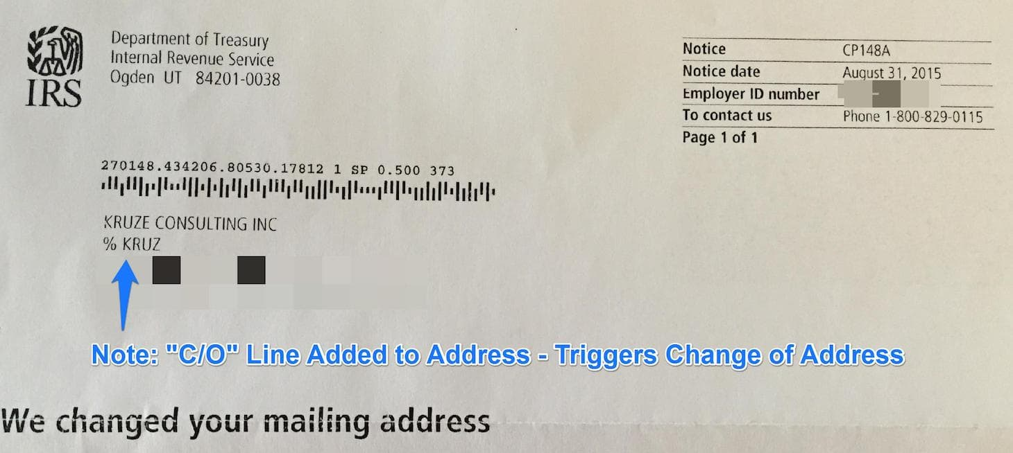 The Recent Flurry of IRS Change of Address Notifications