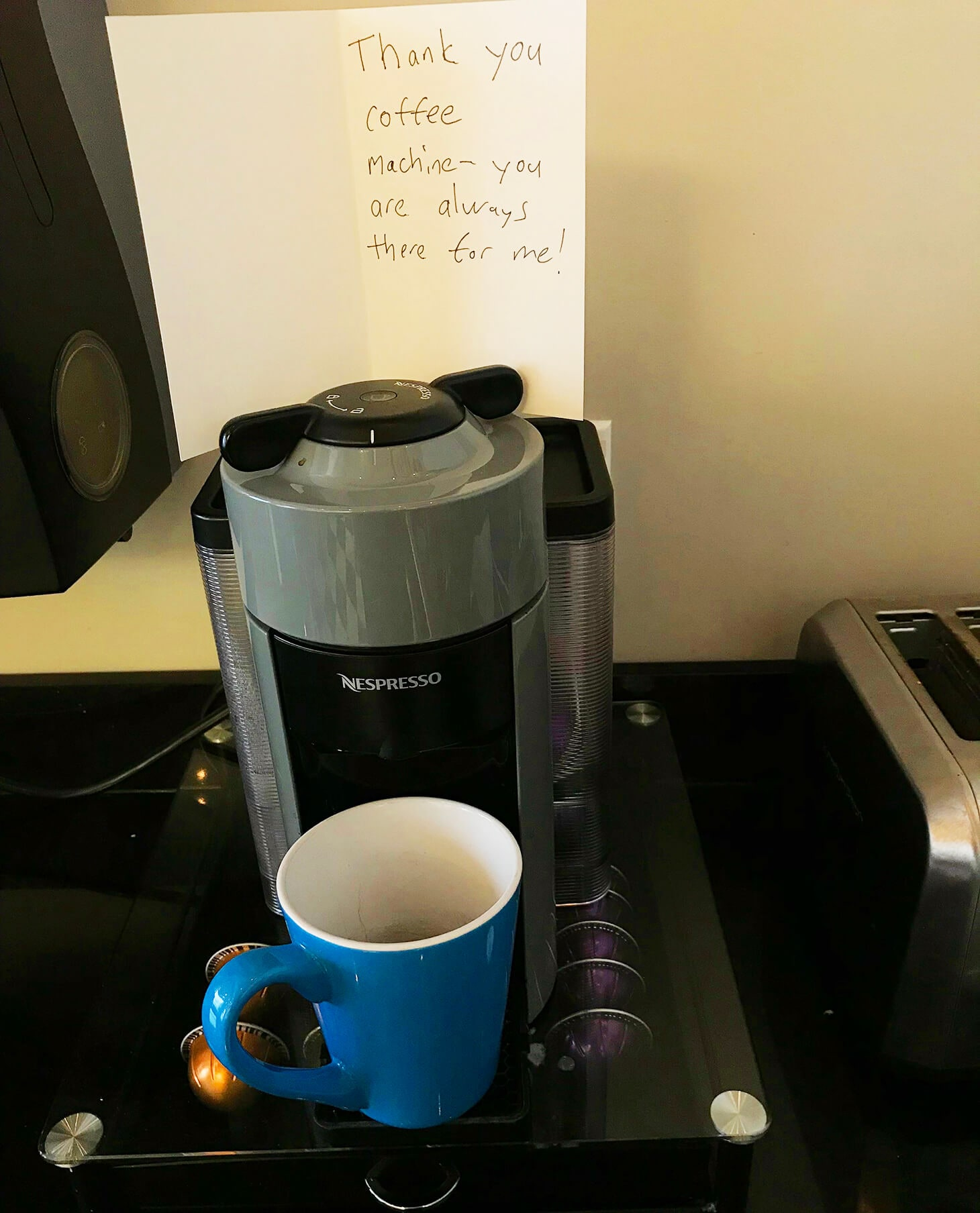 Gratitude to the coffee
