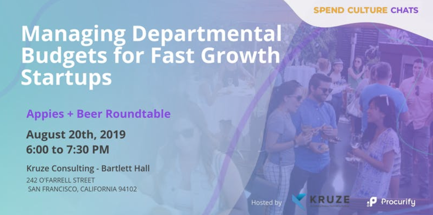 Event - Managing Departmental Budgets for Fast Growth Startups