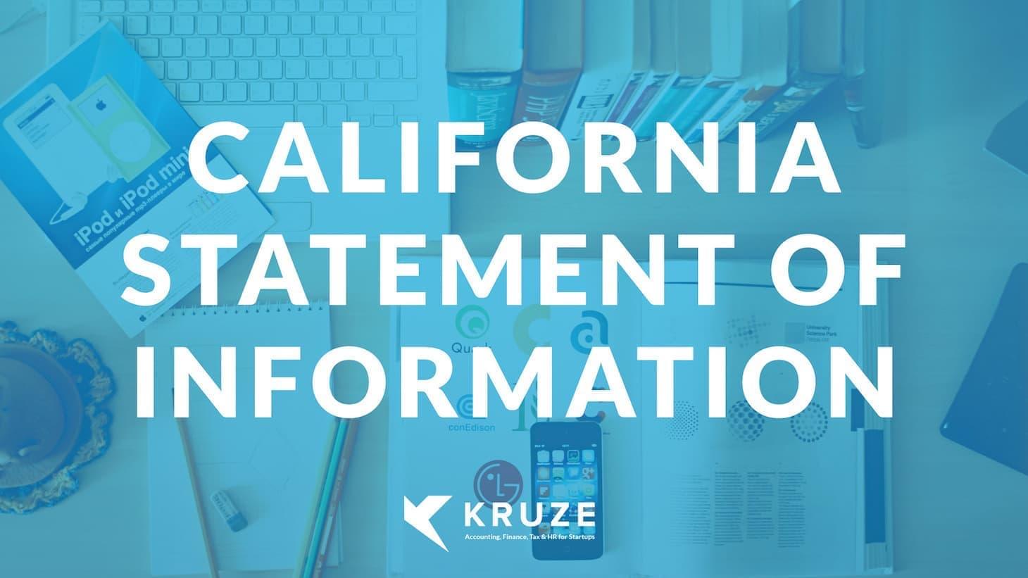 California Statement of Information