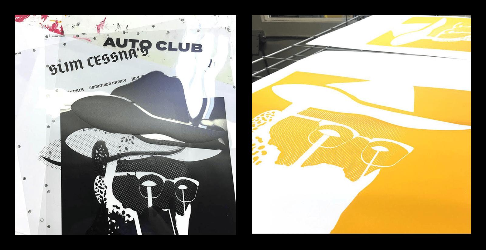 Slim Cessna's Auto Club Poster WIP