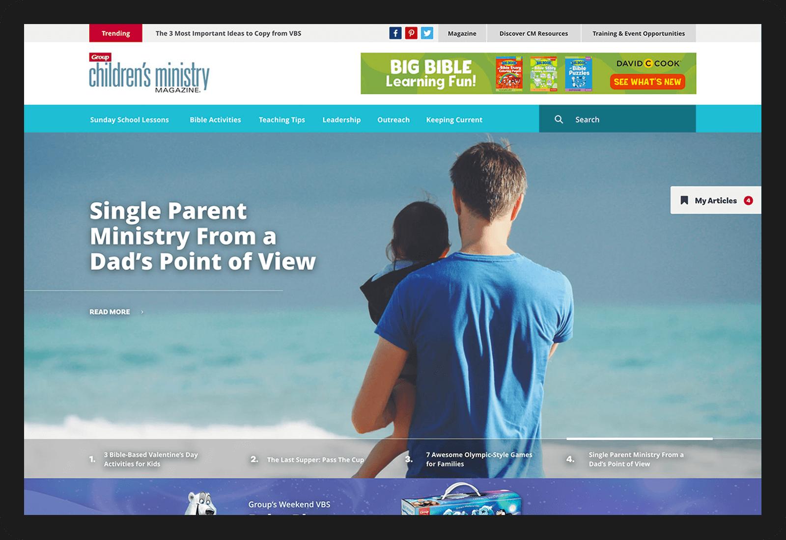 Children's Ministry Wordpress Site