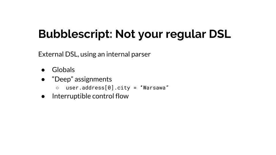 Not a regular DSL