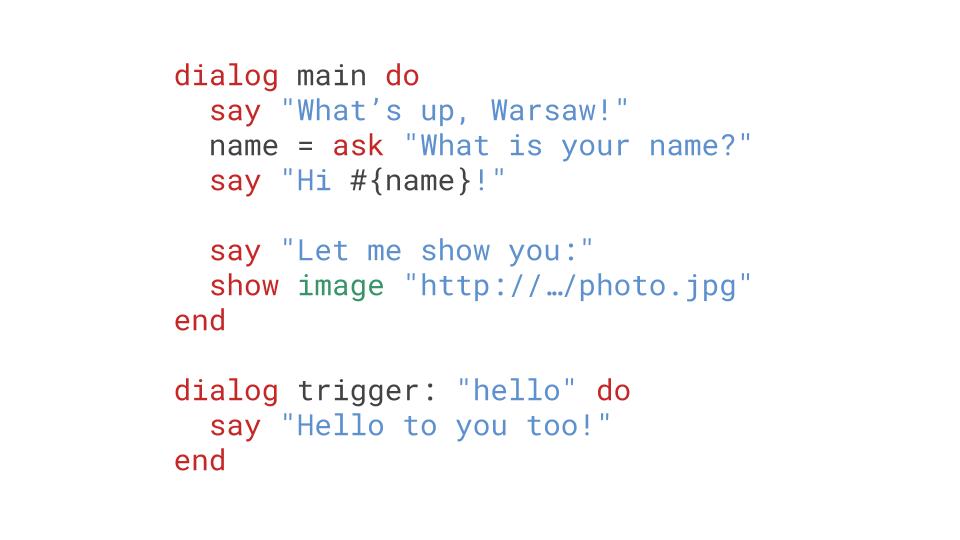 Bubblescript example code