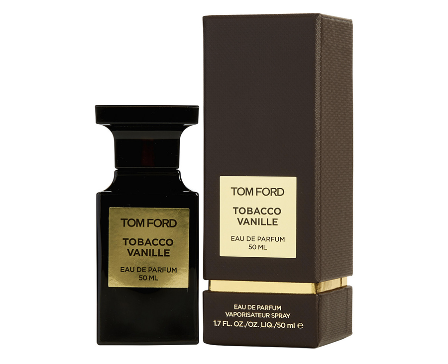 Bottle and packaging design of Tom Ford's Tobacco Vanille fragrance
