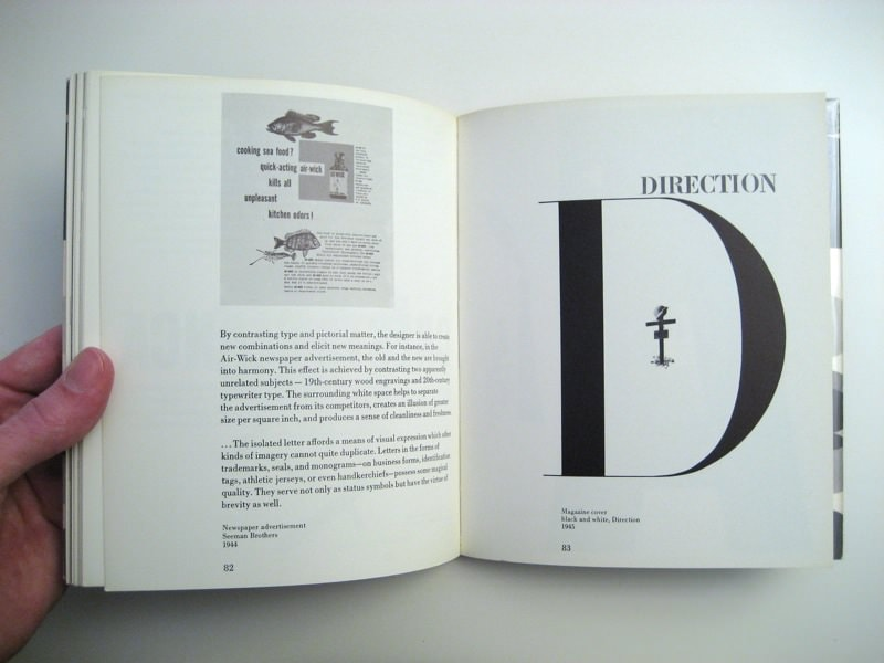 """Pages 82 and 83 of Paul Rand's """"Thoughts on Design"""""""