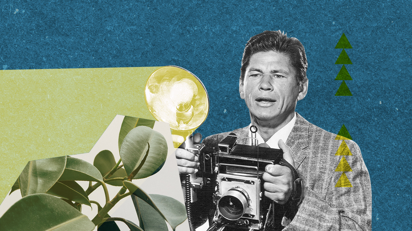 Collage with a 1960s photographer