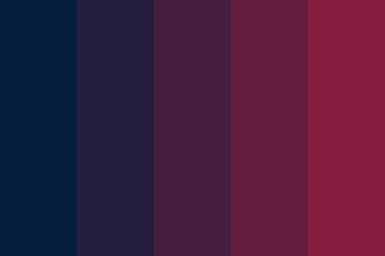 Dark colour palette