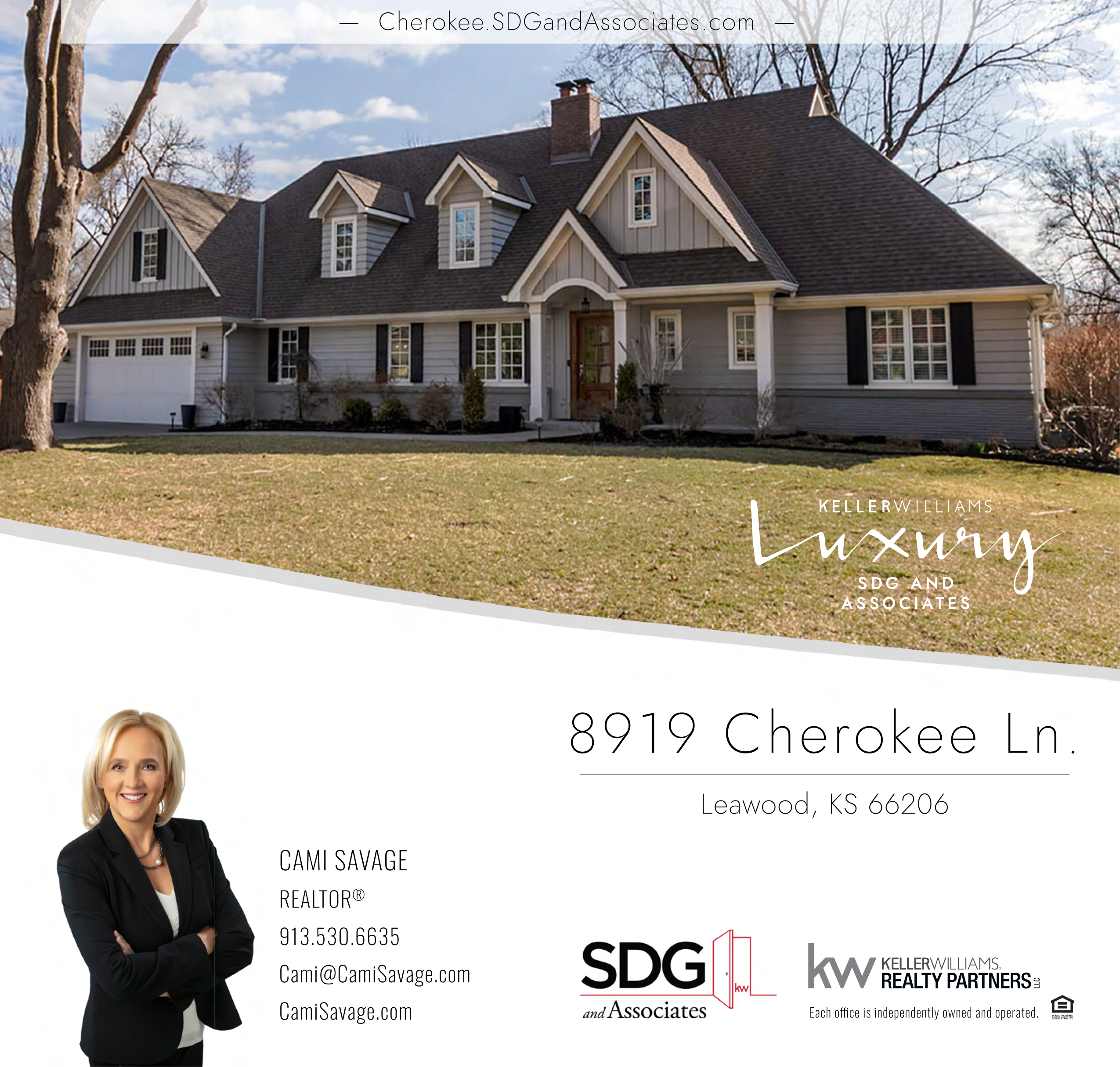 JUST LISTED! Remodeled Old Leawood Gem Perfectly Marries NEW with TRADITIONAL!