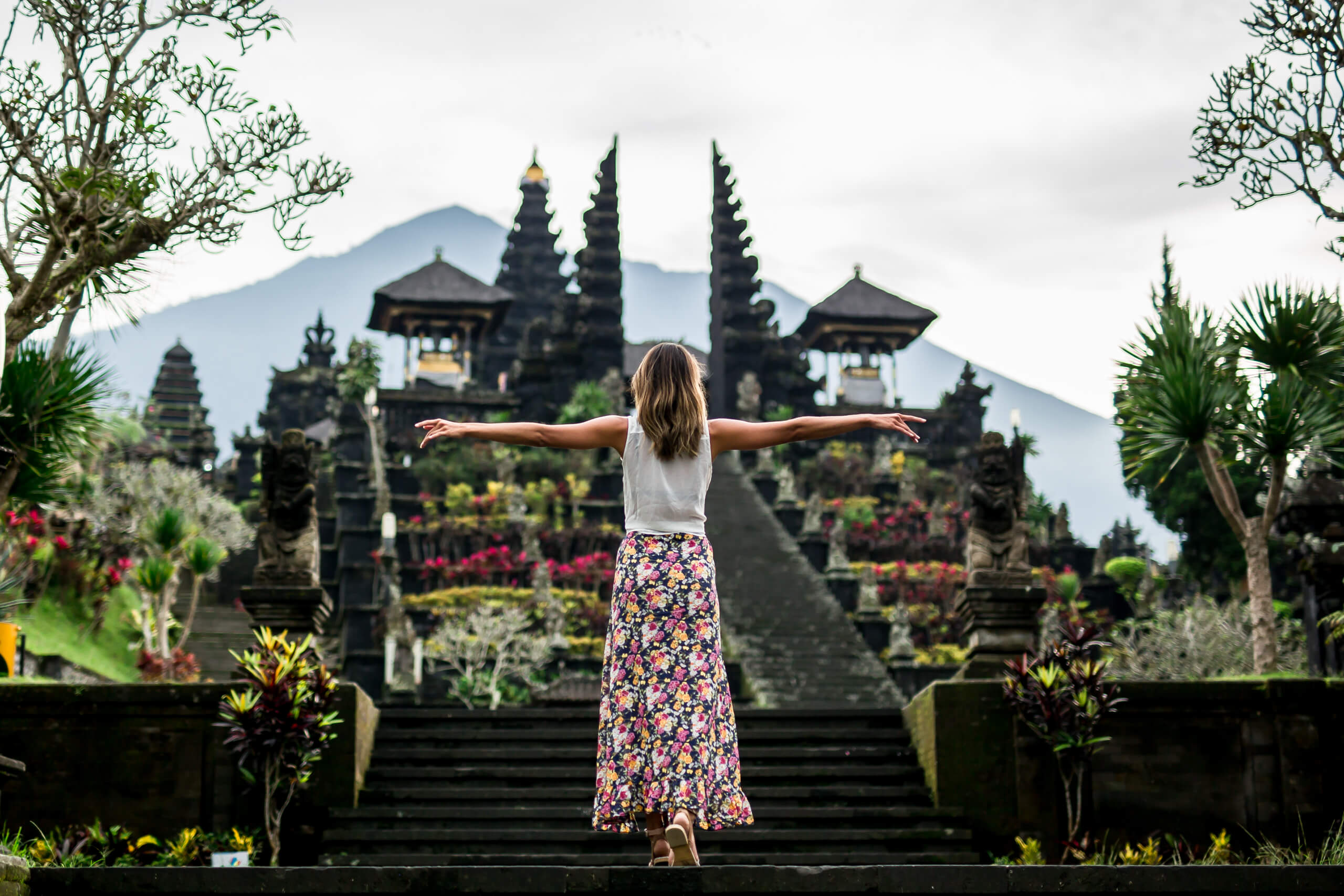 BESAKIH TEMPLE | The first steps of many to the top of Bali's greatest temple.