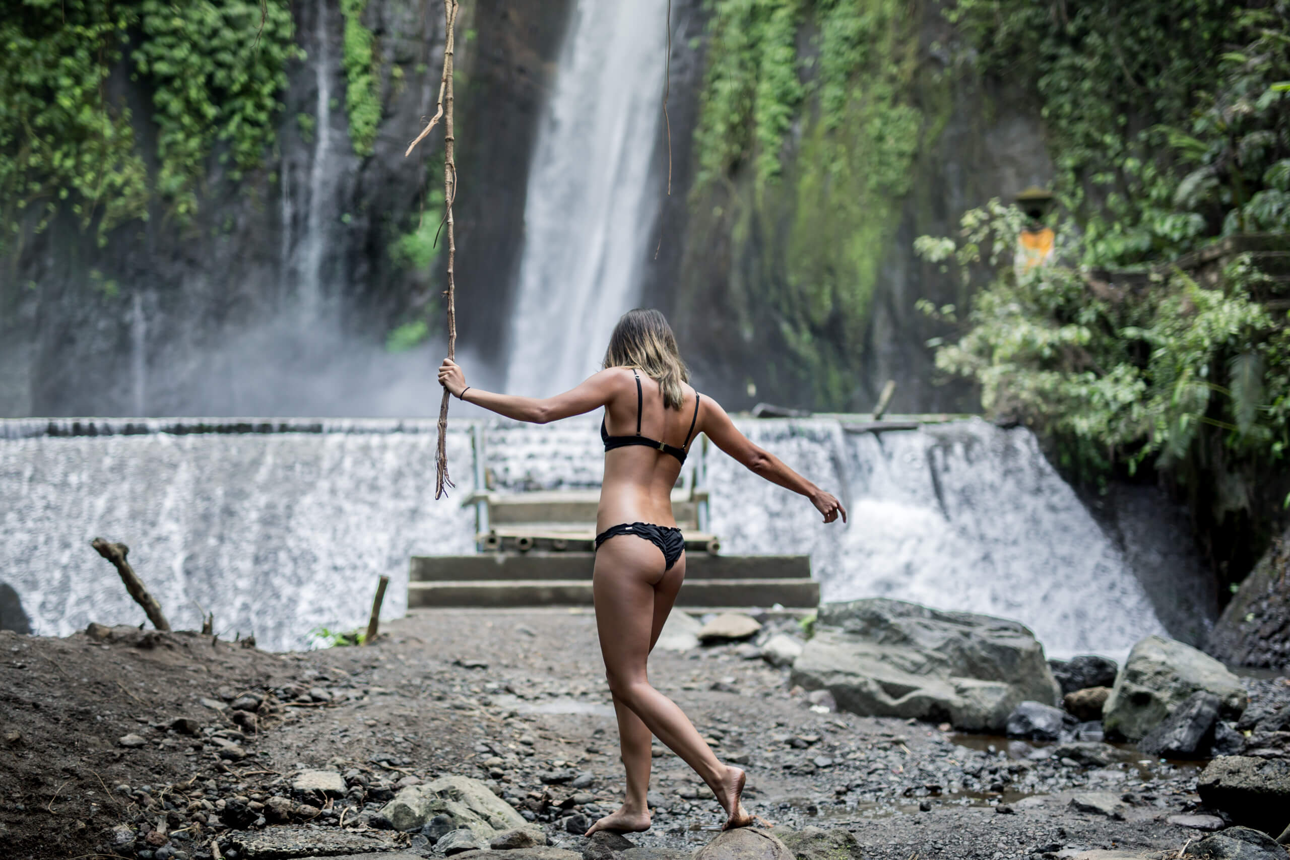 MUNDUK WATERFALL | When you find a vine in the jungle its hard not to try and swing on it!