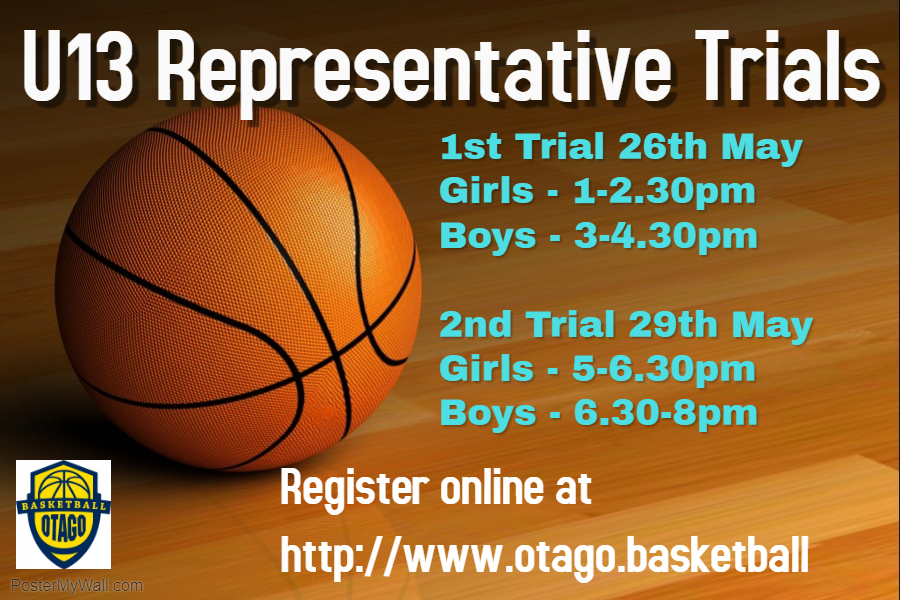 Otago Under 13 Rep  Trials For Boys And Girls