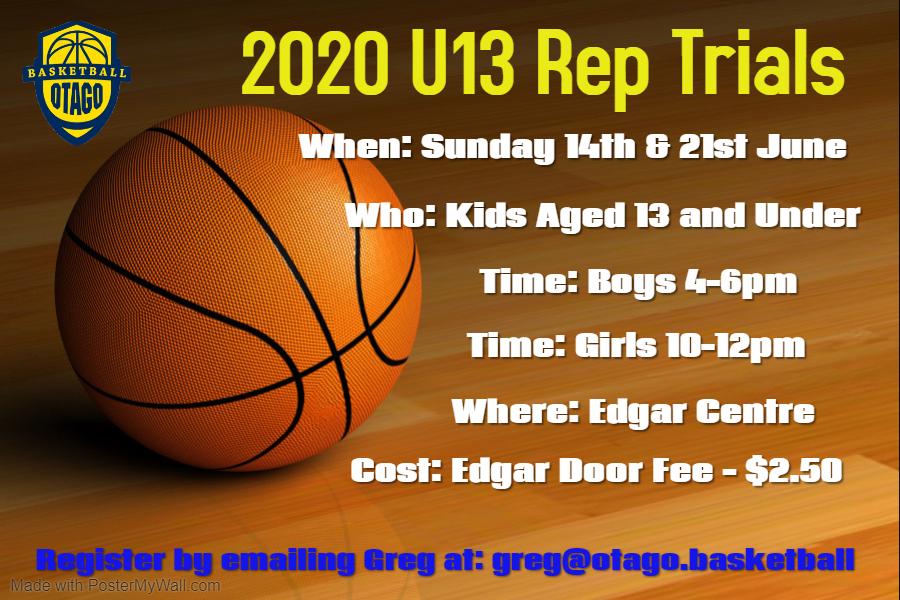 U13 Basketball Rep Trials