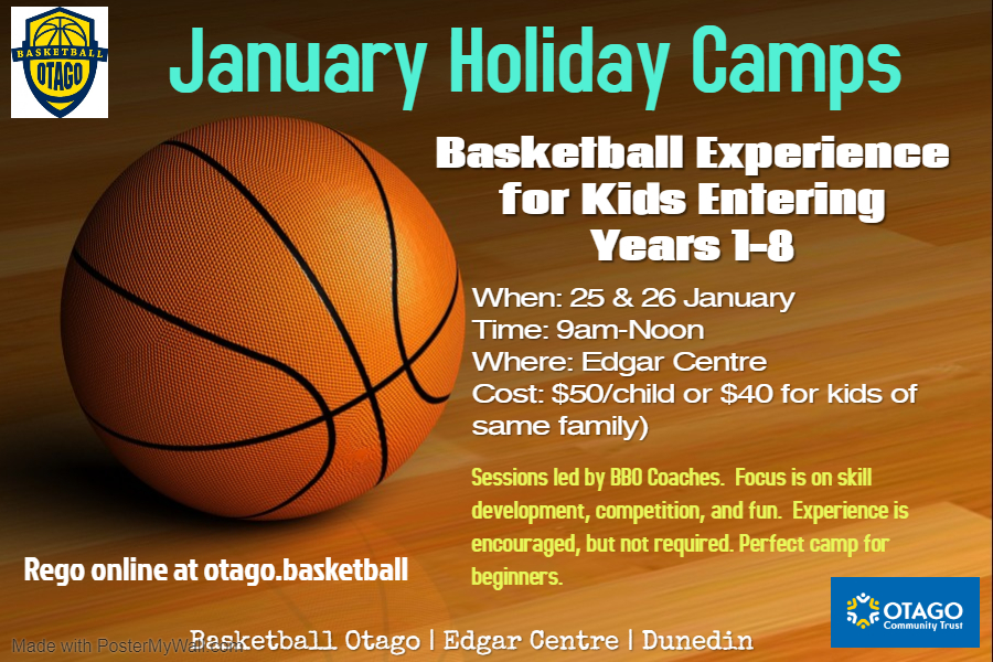 January Holiday Hoops Camp Kids Entering Yr  1 To 8