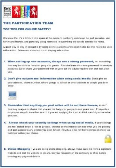 Ten Top Tips for Staying Safe Online