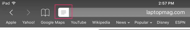 image of reader view icon