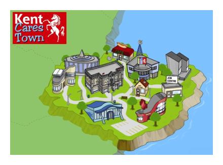 kent cares town logo