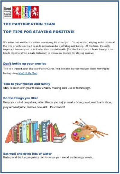 Ten Top Tips for Staying Positive