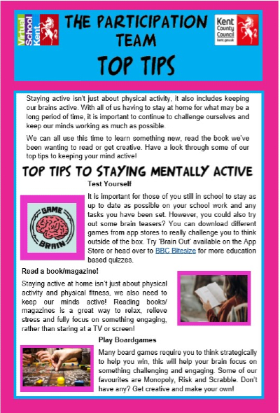 Top Tips for Staying Mentally Active