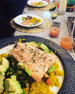 Image of Mimosas withe Brunch and Salmon