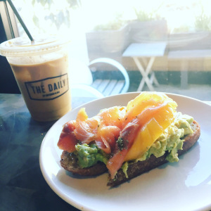Image of a the daily coffee and avocado toast