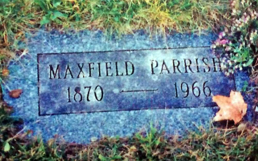 Maxfield Parrish's grave stone