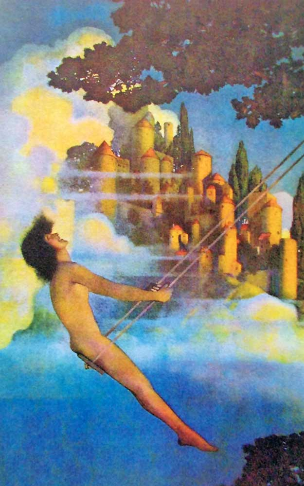 Dinky Bird, a painting by Maxfield Parrish