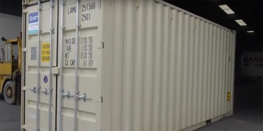 Video - 20 Foot High Cube Shipping Container