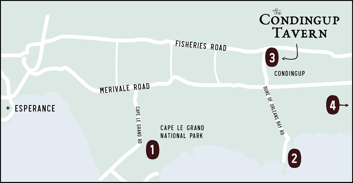 Condingup Tavern Map