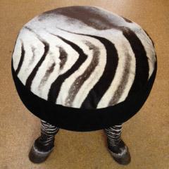Zebra foot stool