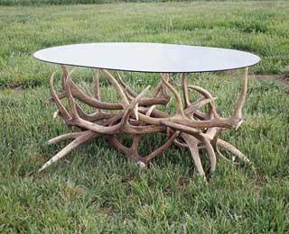Custom Elk Antler Coffee Table