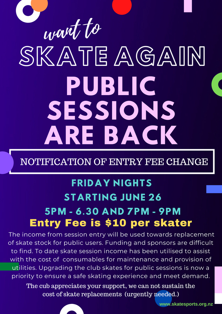 Public Skate Sessions - CURRENTLY ON HOLD